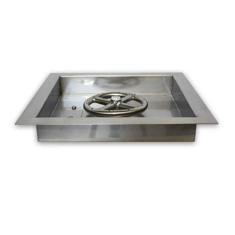 pit pans american fireglass square bowl stainless steel drop in