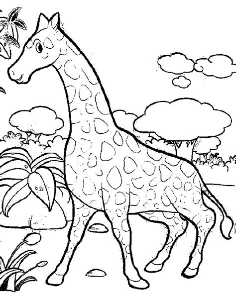 coloring page of animals coloring page giraffe animals coloring pages 2