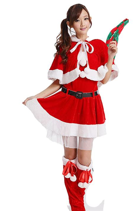 36 3 cute wraped miss santa clause costume girl