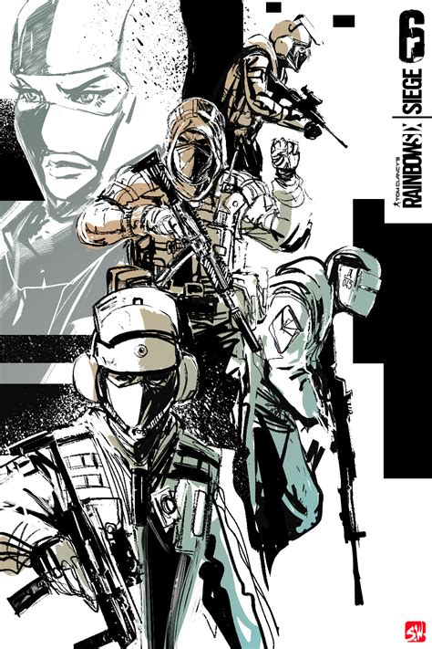 X Anime Siege by Rainbow 6 Siege Comission Poster By Skizzleboots On Deviantart
