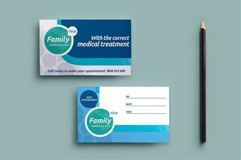 Appointment Card Template Psd by Healthcare Clinic Appointment Card Business Card