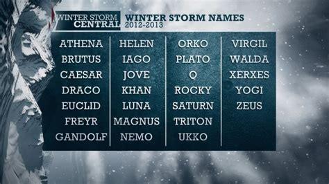 illuminati names blizzards sneeuwstormen krijgen namen net als orkanen