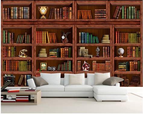 book shelves for room european bookshelf mural wallpaper 3d stereoscopic study bookcase wallpaper the living room sofa