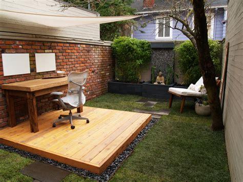 outdoor office space garden ladder rungs