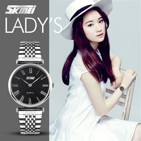 New Jam Tangan Wanita Skmei Casio Original Anti Air Murah Tipis jam tangan wanita original skmei casio model guess rolex