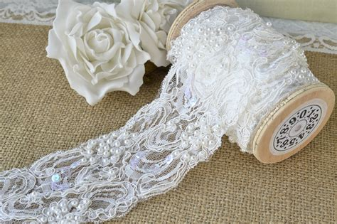 beaded trimmings uk exquisite embroidered ivory pearl beaded lace