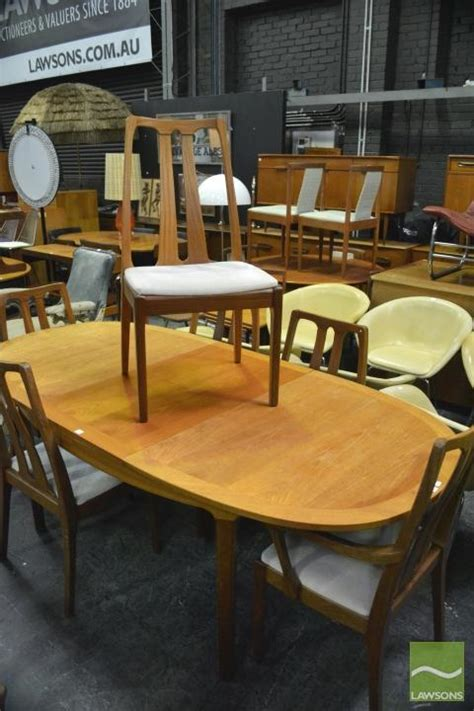 nathan teak dining table nathan teak dining table and six chairs