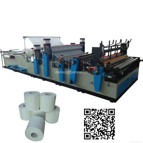 Toilet Paper Roll Machine - automatic rewinding perforating small toilet paper roll