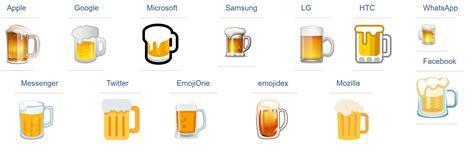 beer emoji lebensmittelkontrolle auch googles bier emoji ist