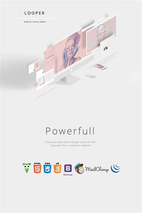 Arch Multipurpose Onepage Multipage Html Template looper multipurpose one multi page template website template 64562