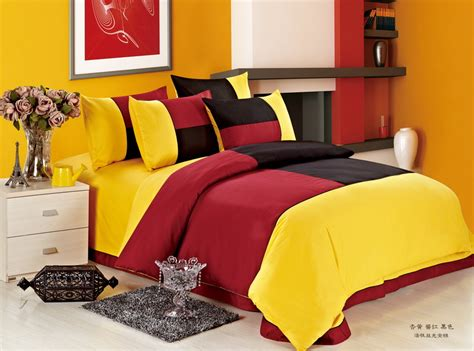 red and yellow comforter colorful mart march 2014