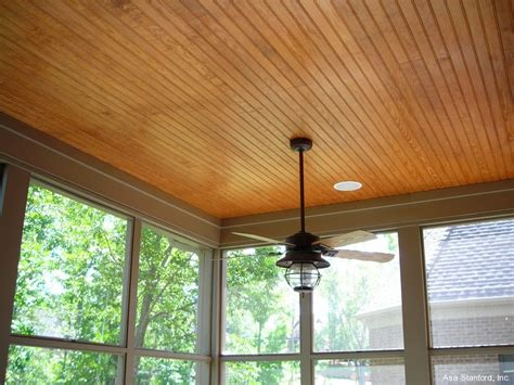 stained beadboard ceiling for back porch our weekend
