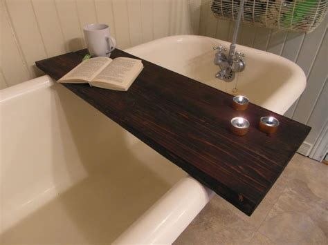 bathtub table custom made reclaimed wood bathtub caddy tray tub table