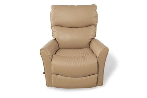 la z boy recliner leather la z boy rowan natural leather recliner mathis brothers