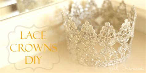 How To Make A Birthday Crown Out Of Paper - lace princess crowns diy inspired