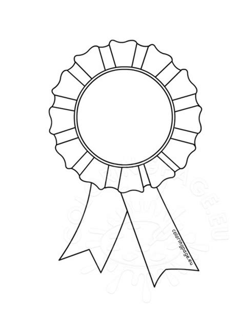 coloring page prize ribbon coloring page