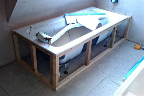 how to make a frame for a bathroom mirror making a bath panel