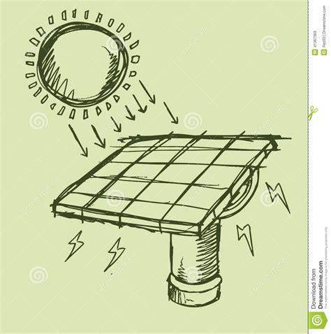 sketchbook vector solar energy sketch vector illustration stock vector