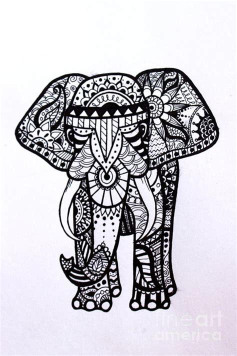 mehndi elephant coloring page henna drawings elephant makedes com