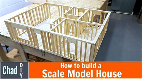 how to build a model house out of wood architectural diy scale model house build youtube