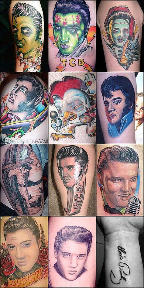 elvis tattoo designs elvis ideas