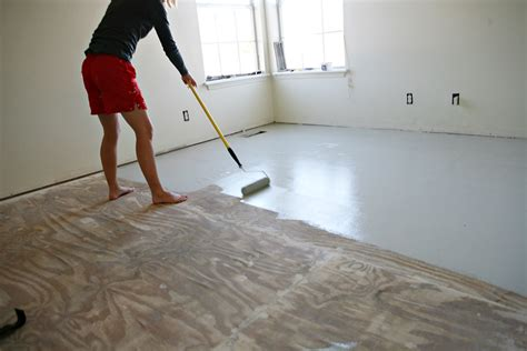 Garage Floor Paint On Plywood Paint Subfloor Houses Flooring Picture Ideas Blogule