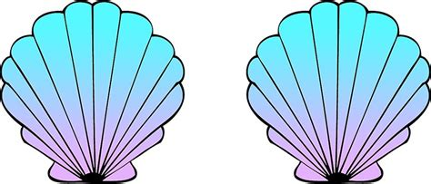 Mermaid Shell quot mermaid shells blue pink ombre quot stickers by amzyydoodles