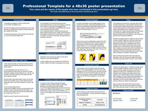 Template Poster Powerpoint by Powerpoint Presentation Poster Sle Template 48x36