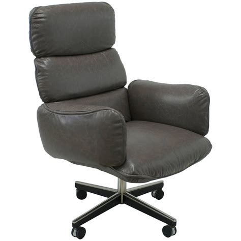 Grey Leather Desk Chair by Otto Zapf For Knoll International Grey Leather Executive Desk Chair For Sale At 1stdibs