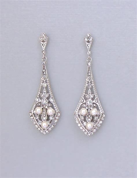 Crystal Bridal Chandelier Earrings Vintage Style Crystal Vintage Style Chandelier Earrings
