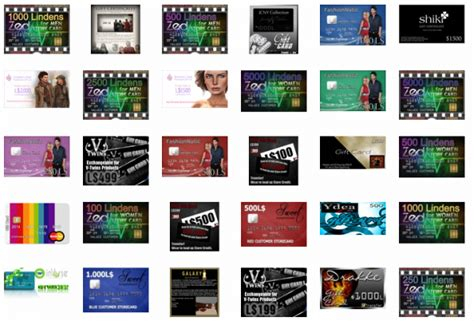second life store fan gear guides gift certificates and more virtual worlds - Second Life Linden Gift Card