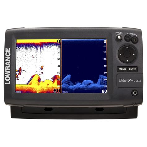lowrance 174 elite 7x hdi fishfinder no transducer 293055