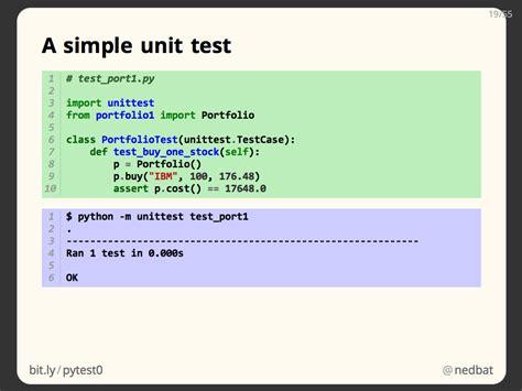 python unit testing python tutorial ned batchelder getting started testing