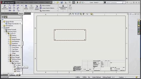 solidworks flat pattern bend notes solidworks 2015 bend lines youtube