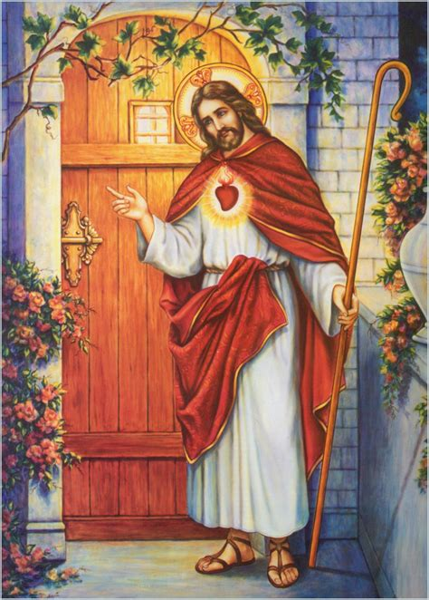 Free Picture Of Jesus Knocking At The Door by Picture Of Jesus Knocking At The Door Coloring