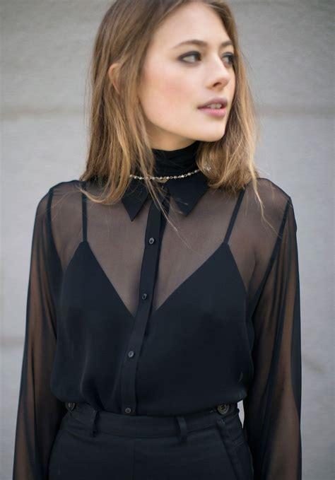 Sheer Top david michael sheer black femme blouse