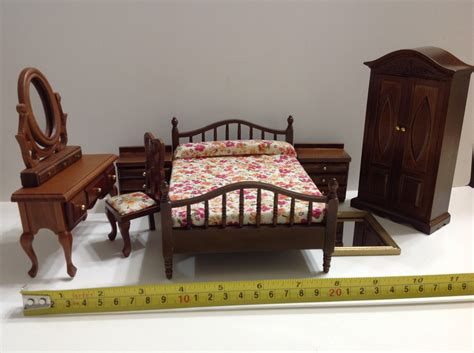 dollhouse bedroom dollhouse miniature wood bedroom furniture set