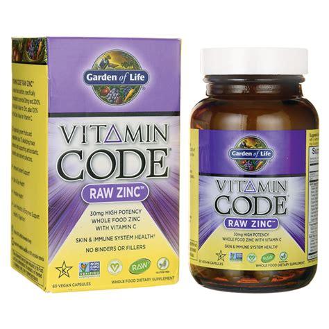 Garden Of Zinc Garden Of Vitamin Code Zinc 60 Vegan Caps