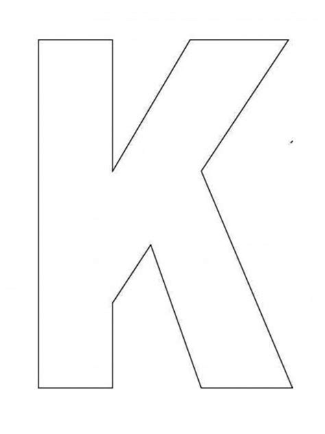 alphabet letter k template for kids printables pinterest