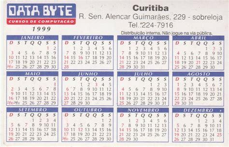 Calendario De 1999 Calend 225 Bolso 1999 Data Byte Q6 R 1 10 Em