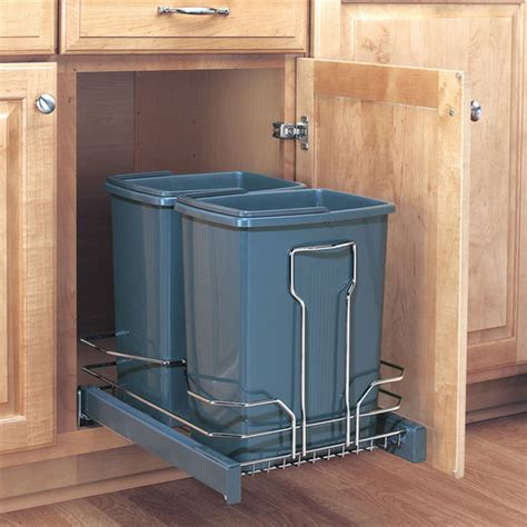 Pull Out Cabinet Trash Can by Trash Cans Free Standing Built In Cabinet Pull