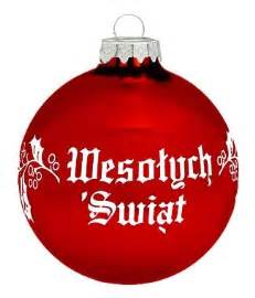 polish art center polish christmas greeting ornament wesolych swiat red