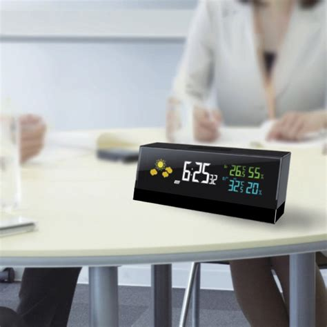 smart home alarm clocks intelligent weather broadcast temperature and humidity display function