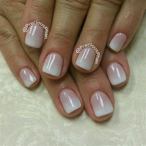 Nägel Lackieren Latex french ombre nude nails preciousphannails precious