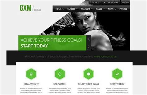 Personal Trainer Website Design Portfolio Sles Of Personal Training Business Websites Personal Business Website Templates