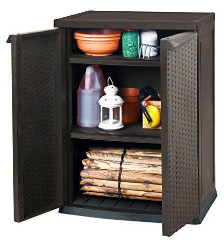 keter rattan style cupboard  mini shed rattan