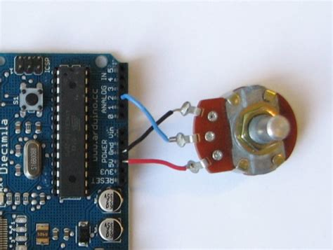 how to connect variable resistor to arduino arduino potentiometer