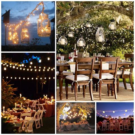 backyard country wedding ideas lights wedding receptions wedding and