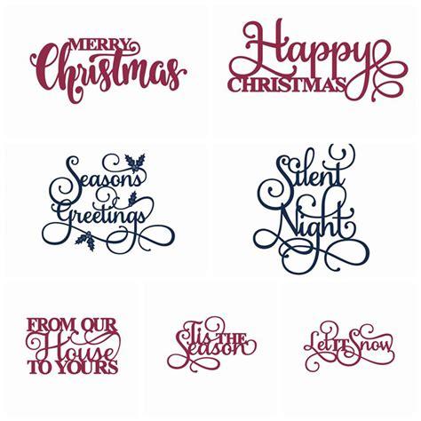 buy merry christmas words metal cutting dies stencil  diy scrapbooking photo