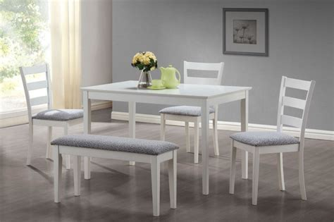 White Dining Set Clean White Dining Set Contemporary Dining Sets Los
